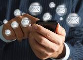Touchscreeen mobiele met eamil — Stockfoto