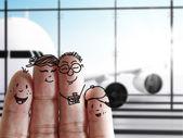 Família de dedo — Foto Stock