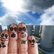 Fingers family — Stock Photo #13002295