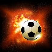 Flame soccer ball — Stock Photo