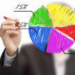 Foto de Stock  : Male hand drawing a chart