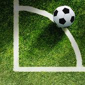 足球在草地上 — 图库照片