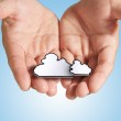 The cloud computing pixel icon — Stock Photo #13044360