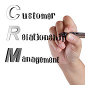 Acronym of CRM Customer Relationship Management — Stock Photo