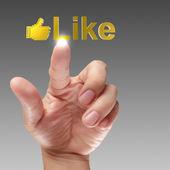 Pressing Social Network icon — Stock Photo