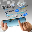 Virtual business process diagram - Stock Photo