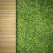 Wood and Grass  — Stock Photo
