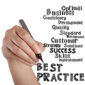 Hand draw virtual best practice — Stock Photo