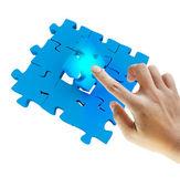 Puzzle última mano empuje — Foto de Stock