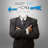 Target your customers as concep — Стоковое фото