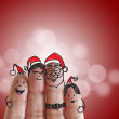 Fingers Family and christmas — Stock Photo #13124183