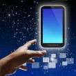 Touch-Screen-Handy-Telefon — Stockfoto