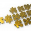 """partnership"" written puzzle gold pieces — Stock Photo #13121458"