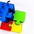 Stock Photo: Success puzzles