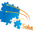 Stock Photo: Puzzle solution