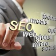 3d SEO search engine optimization as concept — Stock Photo