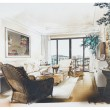Stock Photo: Sketch of interior living room