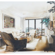 Sketch of an interior living room — Stock Photo #13122575