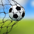 Royalty-Free Stock Photo: Soccer ball in a net