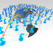 Stock Photo: Social Network concept in 3d