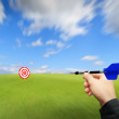 Throw the dart to the target — Foto de Stock