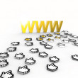 Internet golden World Wide Web — Stock Photo #13123409