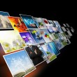 Stock Photo: Visual communication and streaming images concept