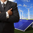 Stock Photo: Business msuccess with energy saving