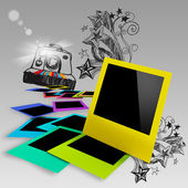 Blank colorful photo frames — Stock Photo