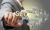 3d seo optimalizace pro vyhledávače jako koncept — Stock fotografie