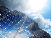 Renewable, alternative solar energy,green business — Stock Photo