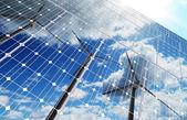 зеленый энергетический фон — Стоковое фото