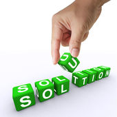 3d word Solution — Stock Photo
