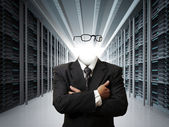Invisible business man concept — Stock Photo