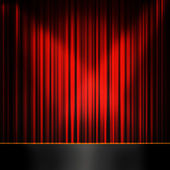 Red curtain room — Stock Photo