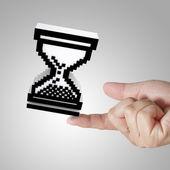 Glass hour cursor — Stock Photo