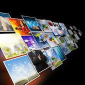 Comunicazione visiva e streaming immagini concept — Foto Stock