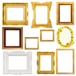 Stok fotoğraf: Set of Vintage gold picture frame