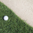 Golf ball on green — Stockfoto