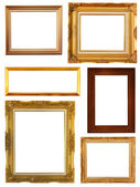 Set of Vintage gold picture frame, isolated — Stockfoto