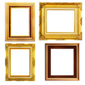 Vintage picture frame, wood plated — Stock Photo
