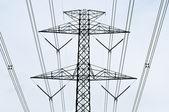Electricity post — Stock Photo