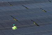 Industriella solceller — Stockfoto