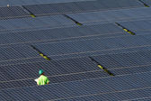 Industrial photovoltaic — Stock Photo