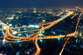 Bangkok city at twilight — Stock Photo