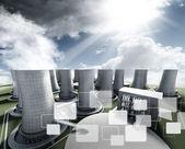 Industriële fotovoltaïsche — Stockfoto