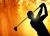 Golfer putting a ball on the green — Foto Stock