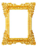 Gold picture frame. isolated on white — Stock Photo