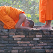 Stock Photo: Young Buddhist monks