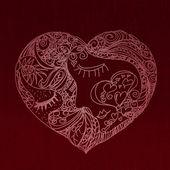 Heart made of many different heart symbols — Stock Photo